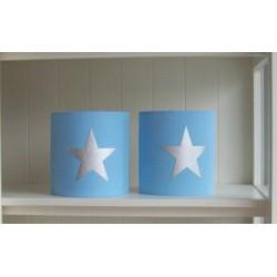 Lichtblauw en zilveren ster