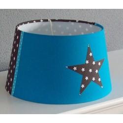 Aquablauw, bruin met sterren