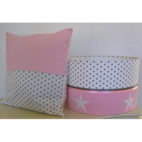 Roze, grijs en wit